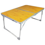 Plastic Mat Adjustable Portable Laptop Table Folding Stand Computer Reading Desk Bed Tray (Wood)