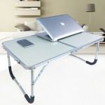 Rubber Mat Adjustable Portable Laptop Table Folding Stand Computer Reading Desk Bed Tray