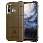 Shockproof Protector Cover Full Coverage Silicone Case for Galaxy A8s(Brown)
