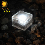 IP68 Waterproof Solar Powered Tempered Glass Outdoor LED Buried Light Garden Decoration Lamp with 0.2W Solar Panel(White Light)