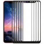 10 PCS Front Screen Outer Glass Lens for Xiaomi Redmi Note 6 Pro (Black)