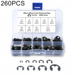 260 PCS Car E Shape Circlip Snap Ring Assortment Retaining Rings