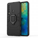 PC + TPU Shockproof Protective Case for Galaxy A9(2018), with Magnetic Ring Holder (Black)