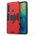 PC + TPU Shockproof Protective Case for Galaxy A9(2018), with Magnetic Ring Holder (Red)