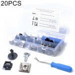 20 Sets Under Engine / Gearbox Cover Fixing Fitting Clips & Screw Kit for Audi / Volkswagen