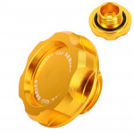 Car Modified Stainless Steel Oil Cap Engine Tank Cover for Honda, Size: 5.6 x 3.2cm(Gold)