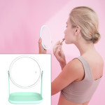 RK36 Multi-function Touch Switch Retractable Makeup Mirror Desk Lamp (Green)