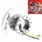Car Tilt Racing Steering Wheel Quick Release Hub Kit Adapter Body Removable Snap Off Boss Kit (Silver)
