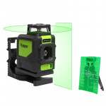 901CG H360° / V130° Laser Level Covering Walls and Floors 5 Line Green Beam IP54 Water / Dust proof(Green)