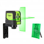 9011G 1V1H 15mW 2 Line Green Beam Laser Level Covering Walls and Floors(Green)