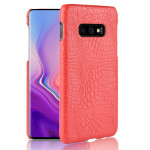 Shockproof Crocodile Texture PC + PU Case for Galaxy S10 Lite (Red)