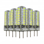 5 PCS YWXLight GY6.35 5W 80LEDs SMD 4014 Energy Saving LED Silicone Lamp (Cold White)