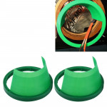 2 PCS 6.5 inch Car Auto Loudspeaker Plastic Waterproof Cover with Protective Cushion Pad, Inner Diameter: 14.5cm(Green)