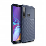 Carbon Fiber Texture Shockproof TPU Case for Galaxy A9s (Blue)