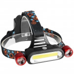 YWXLight 2000 Lumens Adjustable Brightness Rechargeable 3 Modes LED Headlights (Red)