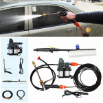 DC 12V Portable Double Pump + Brush High Pressure Outdoor Car Cigarette Lighter Washing Machine Vehicle Washing Tools