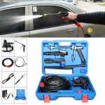 220V Portable Double Pump + Power Supply + Brush High Pressure Outdoor Car Washing Machine Vehicle Washing Tools, with Storage B