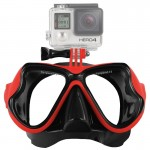 Water Sports Diving Equipment Diving Mask Swimming Glasses for GoPro HERO4 /3+ /3 /2 /1(Red)