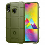 Shockproof Rugged Shield Full Coverage Protective Silicone Case for Galaxy M20 (Army Green)