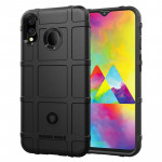 Shockproof Rugged Shield Full Coverage Protective Silicone Case for Galaxy M20 (Black)