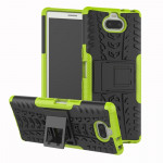 Tire Texture TPU+PC Shockproof Case for Sony Xperia XA3, with Holder (Green)