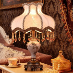 European Style Retro Bedroom Warm White Light Bedside Lamp