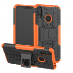 Tire Texture TPU+PC Shockproof Case for Asus Zenfone Max (M2), with Holder (Orange)
