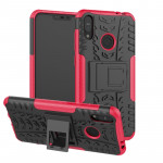 Tire Texture TPU+PC Shockproof Case for Asus Zenfone Max (M2), with Holder (Pink)