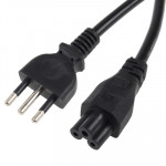 3 Prong Style Italian Notebook AC Power Cord, Length: 1.5m