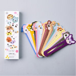 30 PCS / Set Cute Animal Farm Paper Bookmark Book Holder Multifunction Kawaii Stationery for Children School Supplies Kawaii Gif