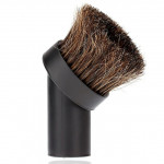 32mm Vacuum cleaner brush head Home Use Mixed Horse Hair Oval Cleaning Brush Head Vacuum Cleaner Accessories Tool(Black)