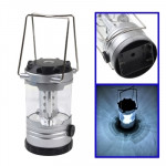 12 LED Adjustable Brightness Camping Lamp with Compass, Random Color Delivery