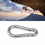 10pcs Carabiner Camp Snap Clip Hook Keychain Hiking, Dimensions: 81.2mm x 39.5mm x 7.65mm