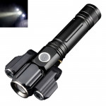 KS-737 USB Charging Waterproof T6+XPE Zoomable LED Flashlight with 4-Modes & 18650 lithium battery