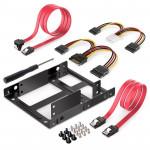 2.5 Inch to 3.5 Inch External HDD SSD Metal Mounting Kit Adapter Bracket With SATA Data Power Cables and Screws