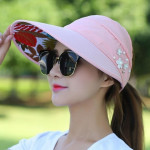 Women Summer Casual Going Out Ultraviolet-proof Korean Style Folded Sun Block Hat Breathable And Light(White)