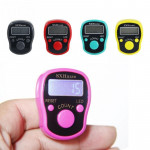 Electronic Digital Counter Portable Hand Operated Tally LCD Screen Finger Counter Random Color(Random)