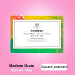Creative Round Watercolor Paper Pad Aquarelle Water-soluble Book Painting Paper Square Postcards