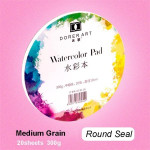Creative Round Watercolor Paper Pad Aquarelle Water-soluble Book Painting Paper Round with glued