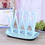 Baby Bottle Drying Rack Baby Feeding Bottles Cleaning Drying Rack Storage Nipple Shelf Baby Pacifier Feeding Cup Holder(Blue)