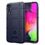 Shockproof Rugged Shield Full Coverage Protective Silicone Case for Galaxy A70 (Blue)
