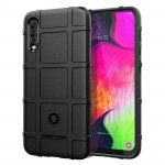 Shockproof Rugged Shield Full Coverage Protective Silicone Case for Galaxy A70 (Black)
