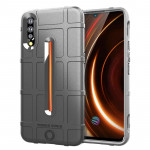 Shockproof Rugged Shield Full Coverage Protective Silicone Case for VIVO IQOO (Grey)