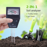 2 in 1 Soil PH Meter Fertility Tester Instrument Gardening Tools with 3 Probes