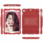 Full Coverage Silicone Shockproof Case for iPad Mini (2019) & 4 & 3 & 2 &1 , with Holder(Red)
