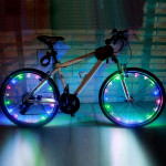 YWXLight 2m 20LEDs LED Bicycle Wheel Light Waterproof Safety Lamp for Night Cycling Spoke Accessories (RGB)