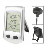 Indoor & Outdoor Thermometer with Clock / Calendar