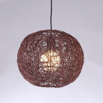 YWXLight Modern Home Decoration Rattan Single Head Chandelier Personalized Design Creative Lighting Suitable for Bedroom Living