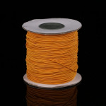 50m/bag 0.5mm Round Elastic Cord Beading Stretch Thread/String/Rope for Necklace Bracelet Jewelry Making(orange)