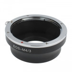 Canon EOS Lens to Olympus M4/3 Lens Mount Stepping Ring(Black)